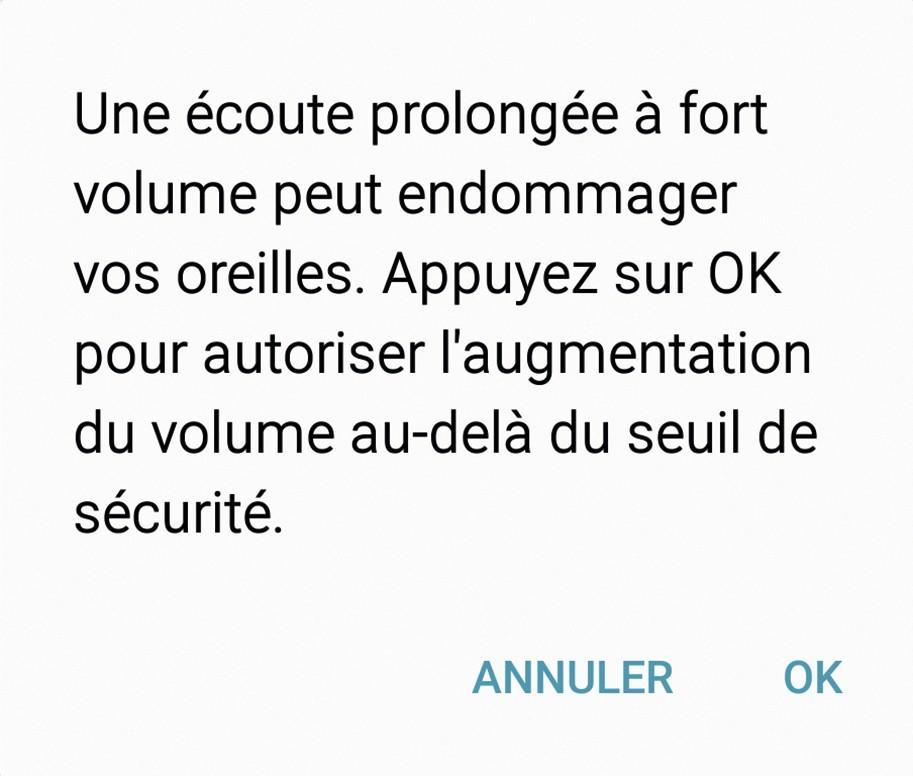 Message d'alerte visible sur les appareils électroniques