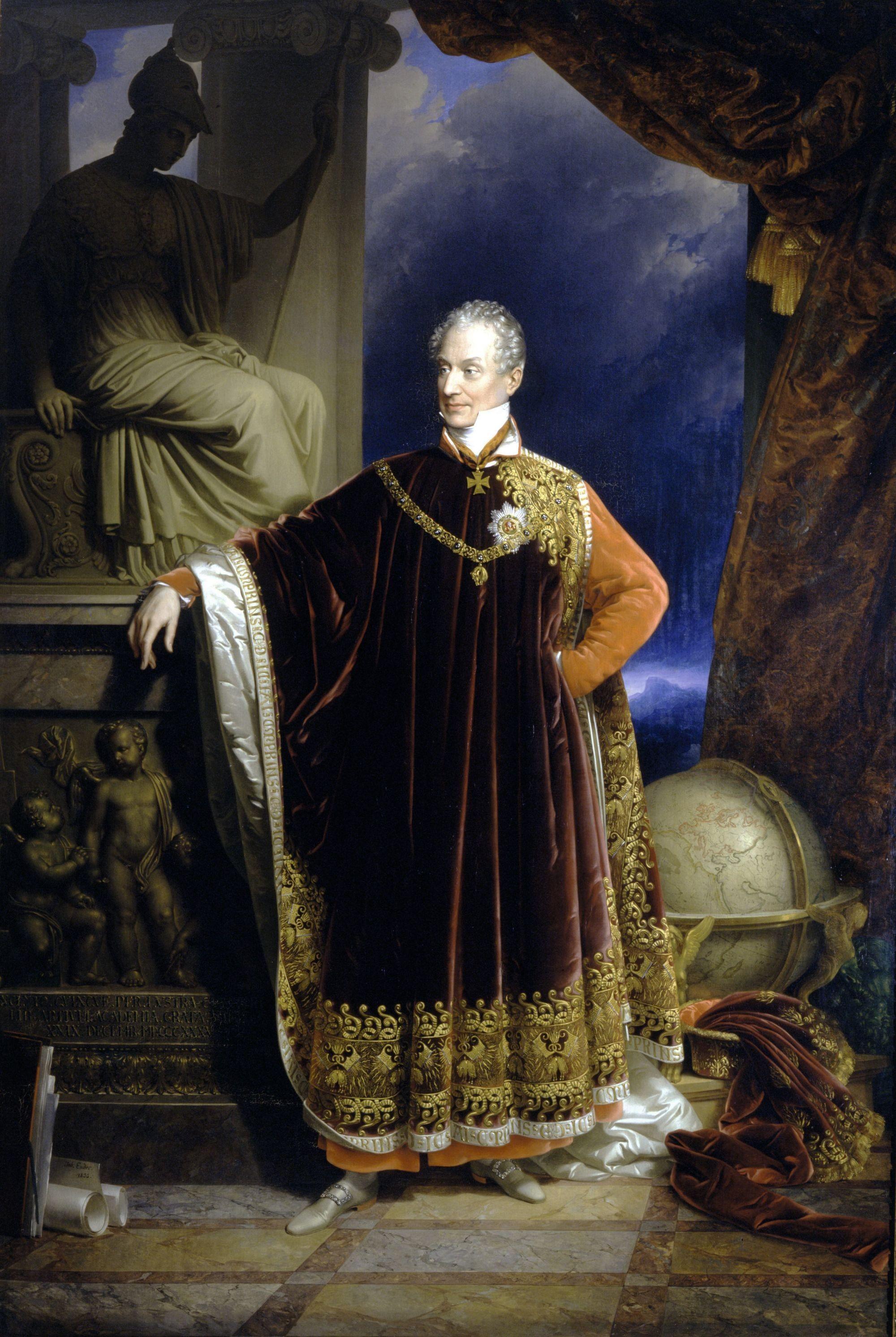 Johann Ender, Portrait de Metternich, 1836, huile sur toile.