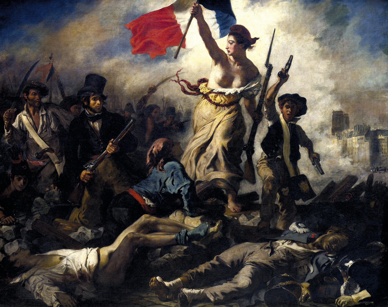 Eugène Delacroix, La Liberté guidant le peuple, 1830, huile sur toile, 260 × 325 cm, musée du Louvre, Paris.