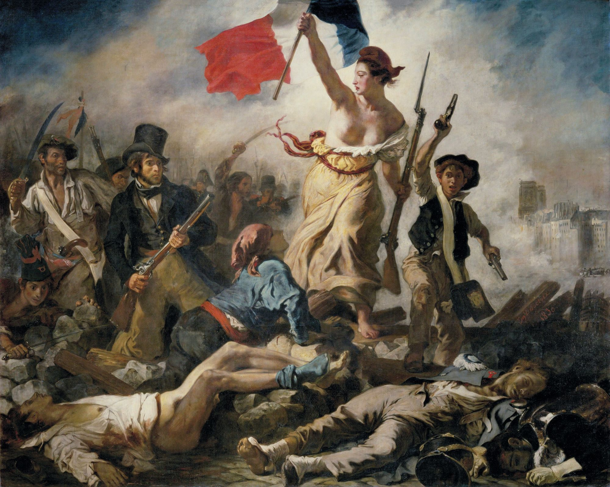 Eugène Delacroix, La Liberté guidant le peuple, 1830, huile sur toile, 260 x 325 cm, musée du Louvre, Paris.