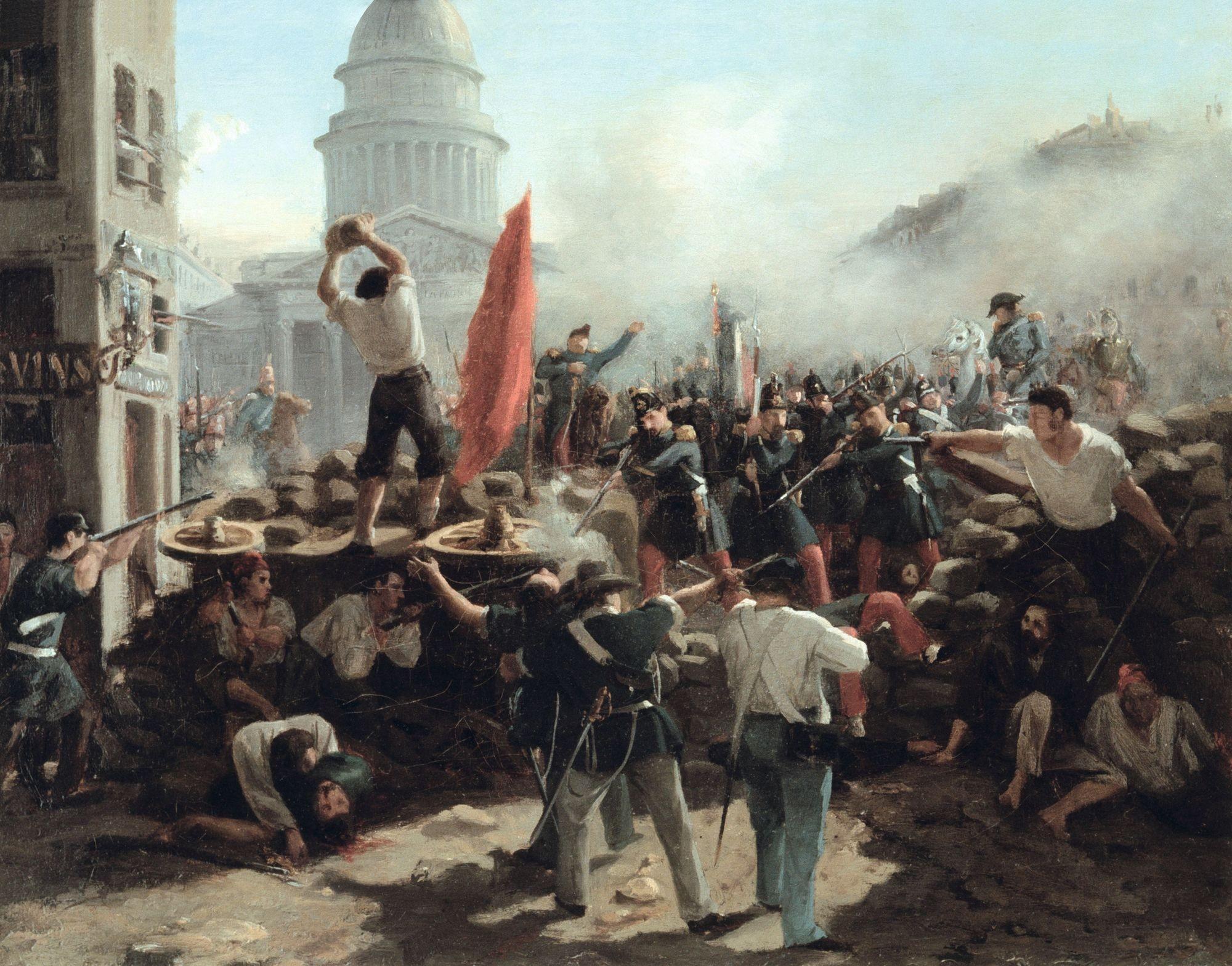 Horace Vernet, Combats dans la rue Souffl ot, Paris, 25 juin 1848