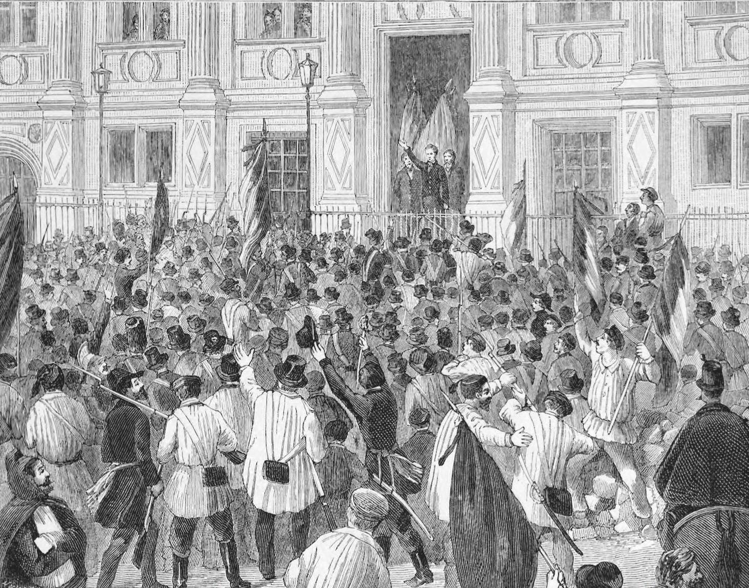 M. Lamartine, foule Hotel de Ville