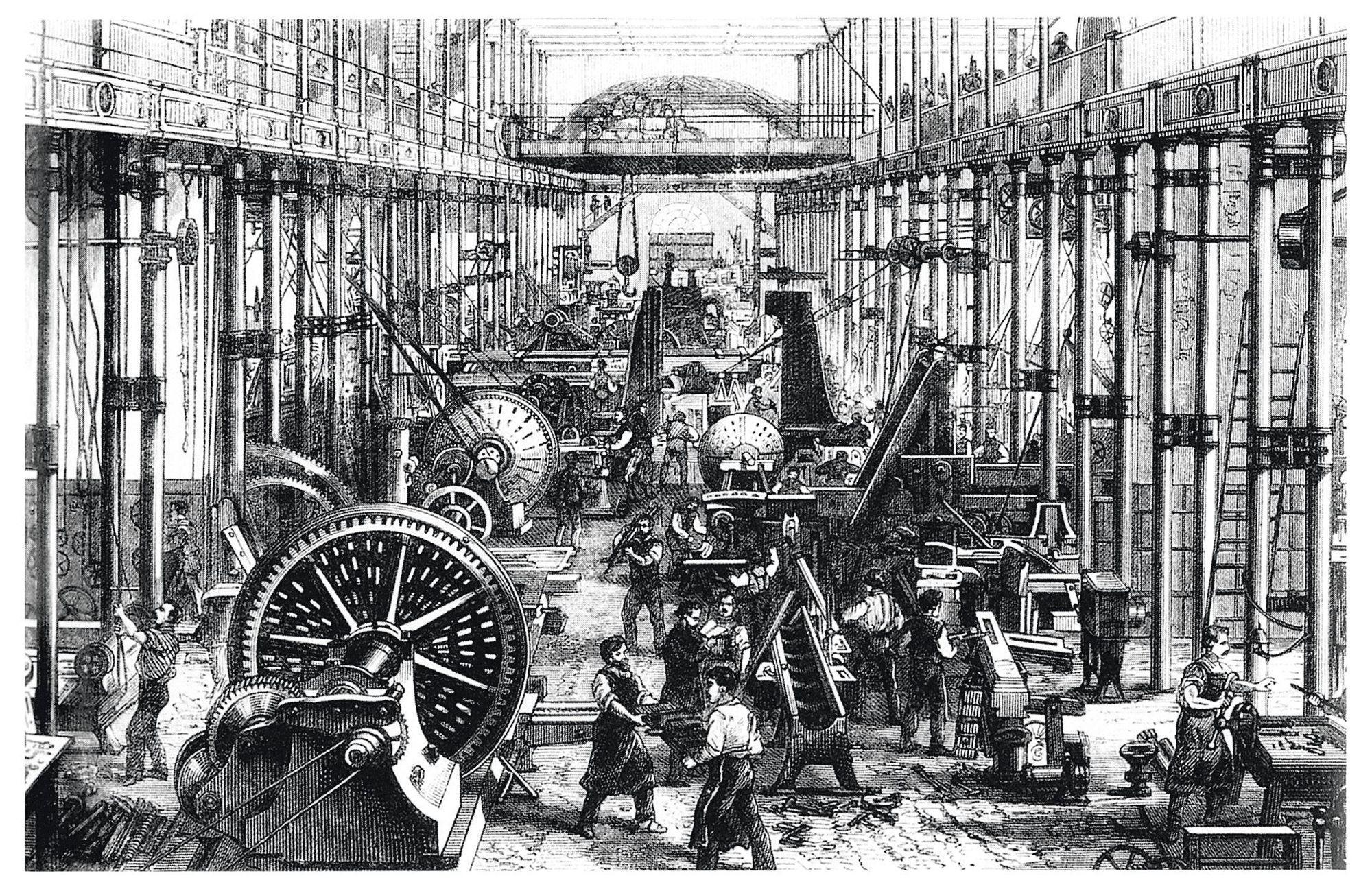 Anonyme, L'usine de Hartmann à Chemnitz (Allemagne), v. 1868, gravure.