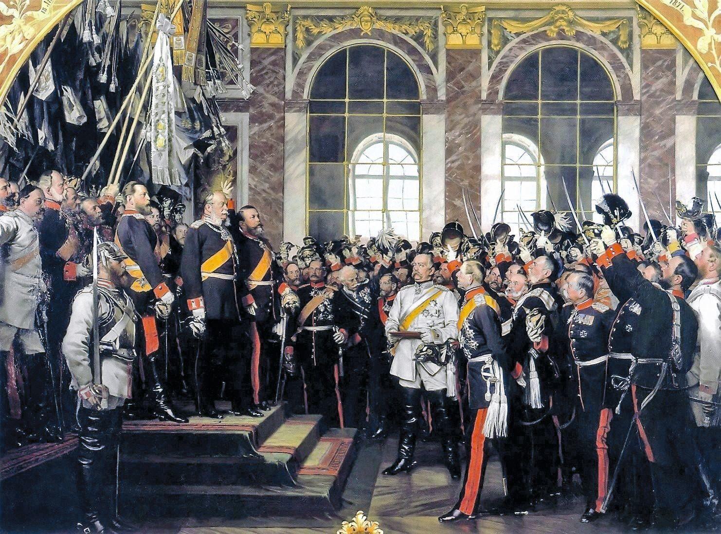 Anton von Werner, Bismarck proclame l'Empire allemand