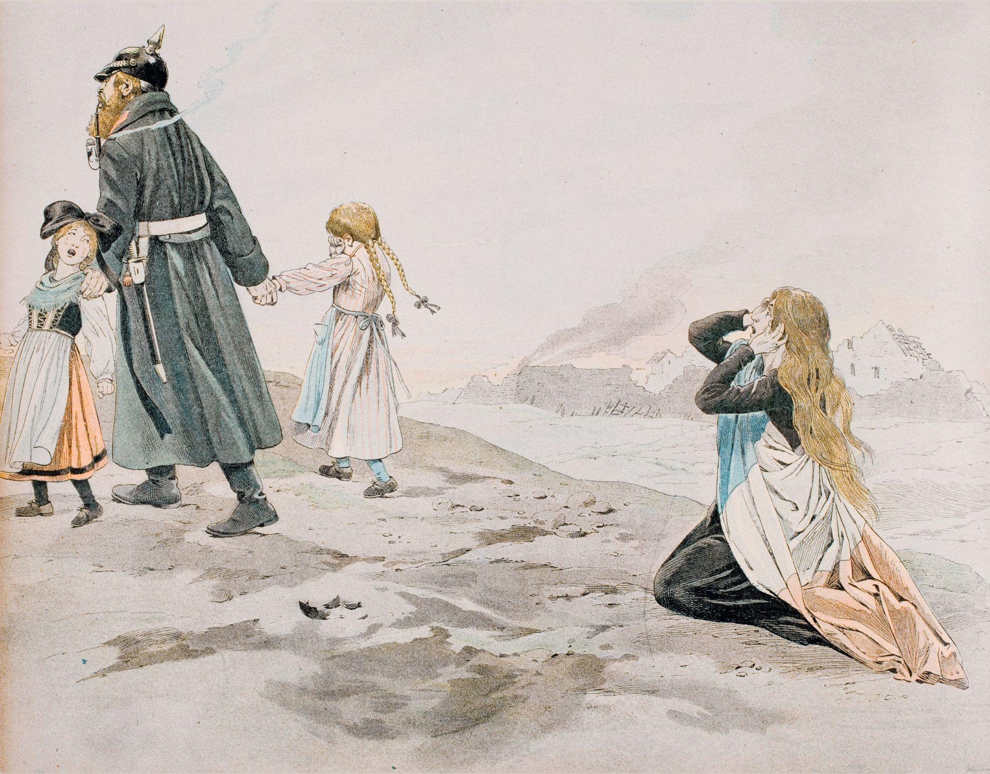 Jacques Onfroy de Bréville, Alors, en deuil des provinces perdues, elle revêt sa robe sombre