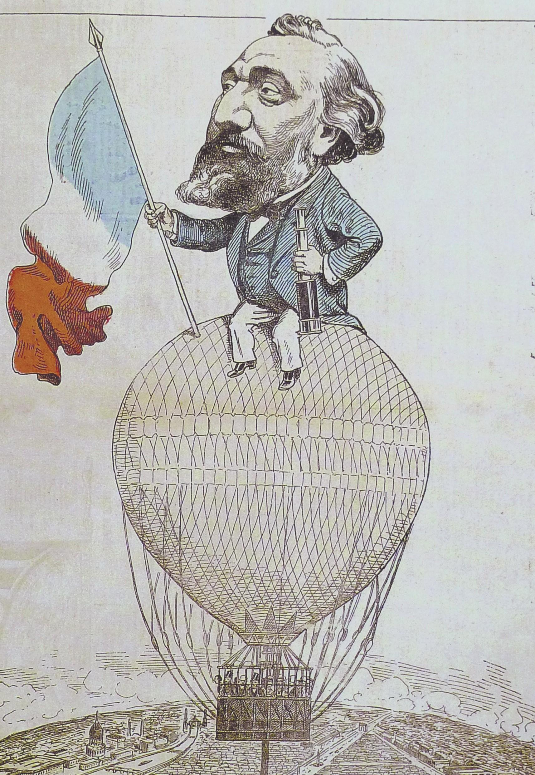 Alfred Le Petit, dessin de presse, Gambetta quitte Paris
