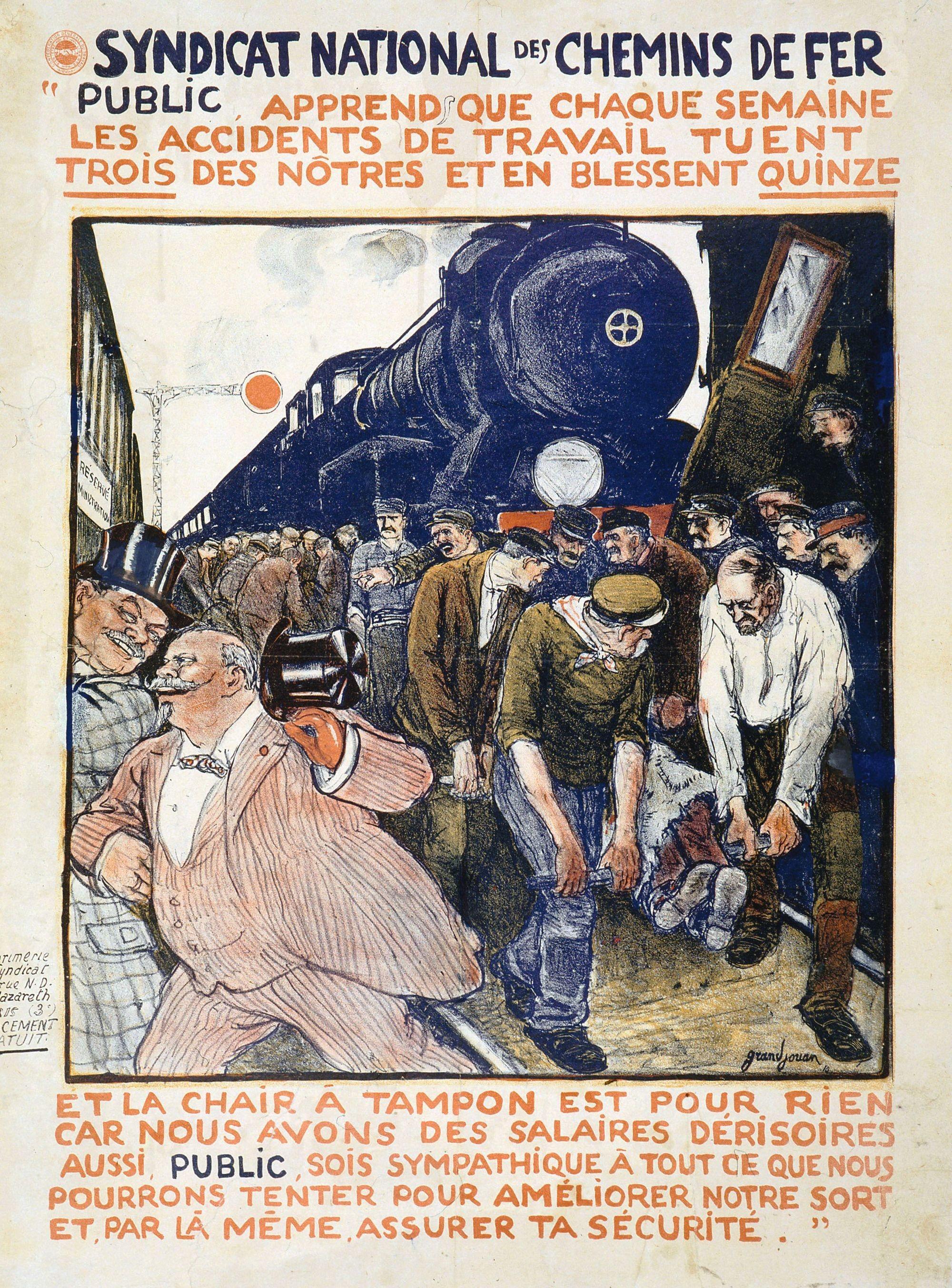 affiche pour le Syndicat national des chemins de fer, 1910