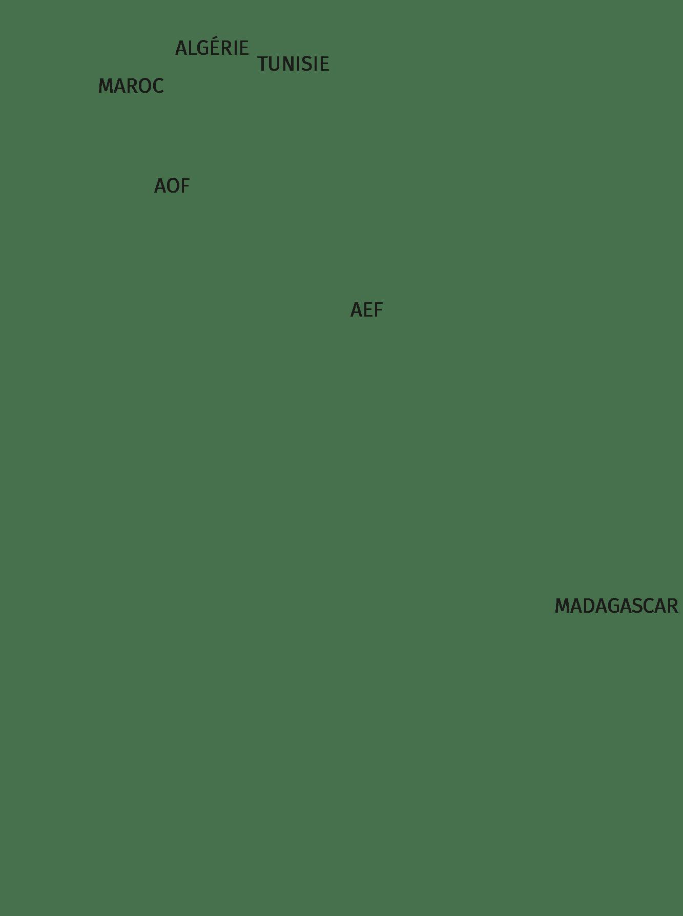 Colonies et protectorats Français (texte)
