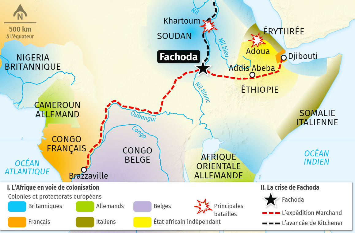 carte La ruée vers l'Afrique