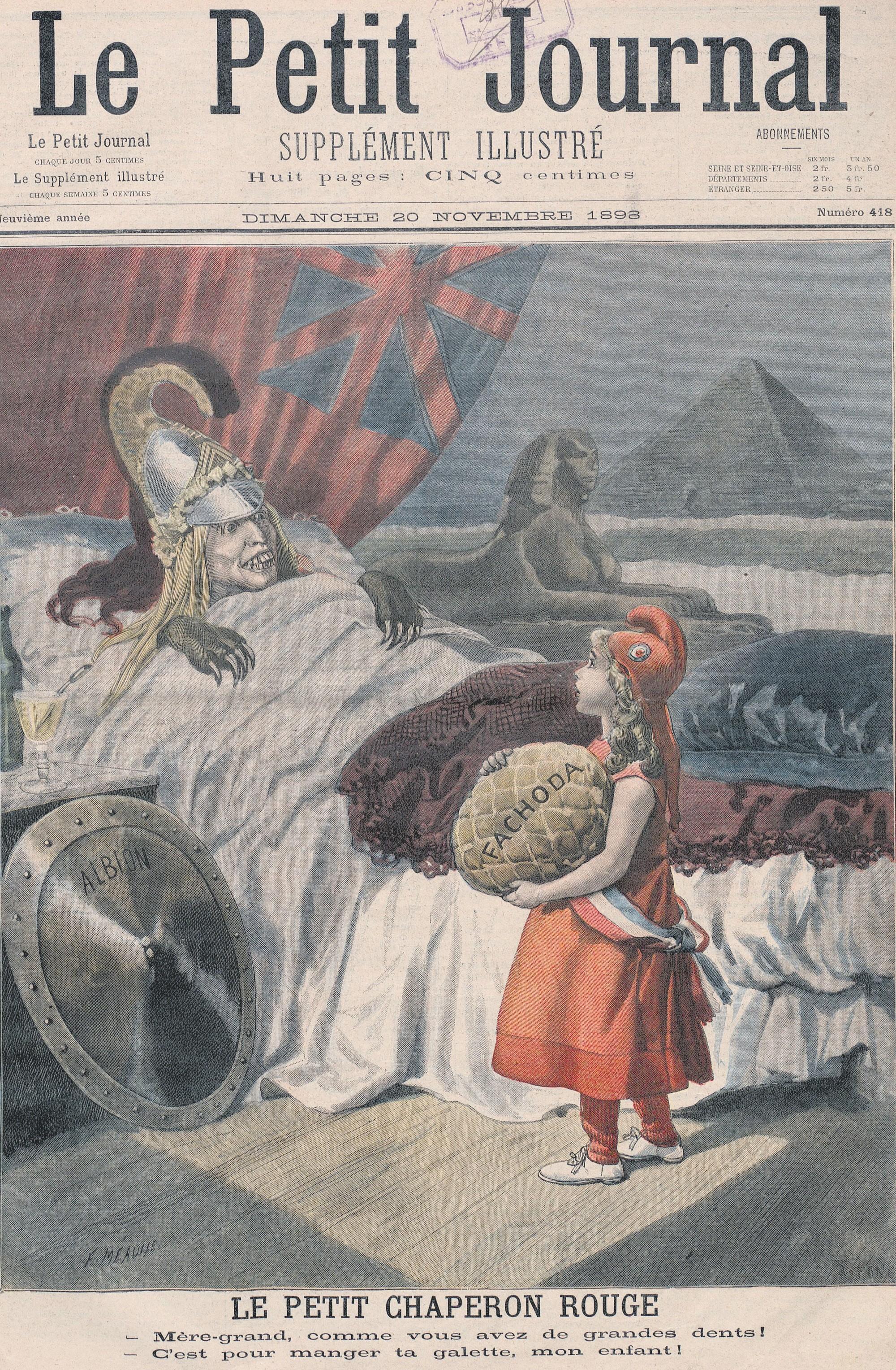 ambitions coloniales Angleterre, Supplément illustré du Petit Journal,