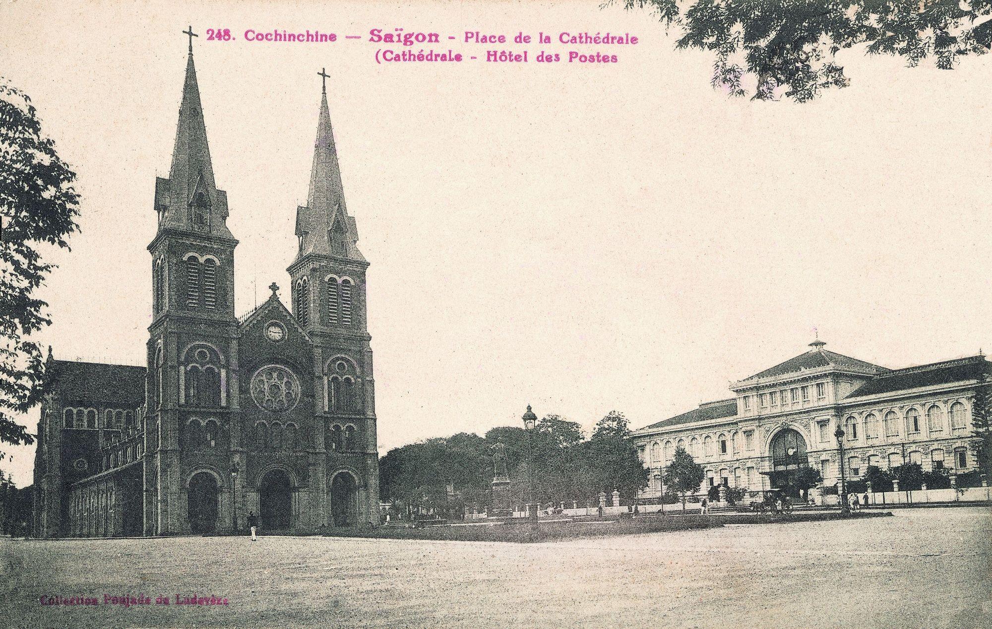 La cathédrale de Saïgon, carte postale