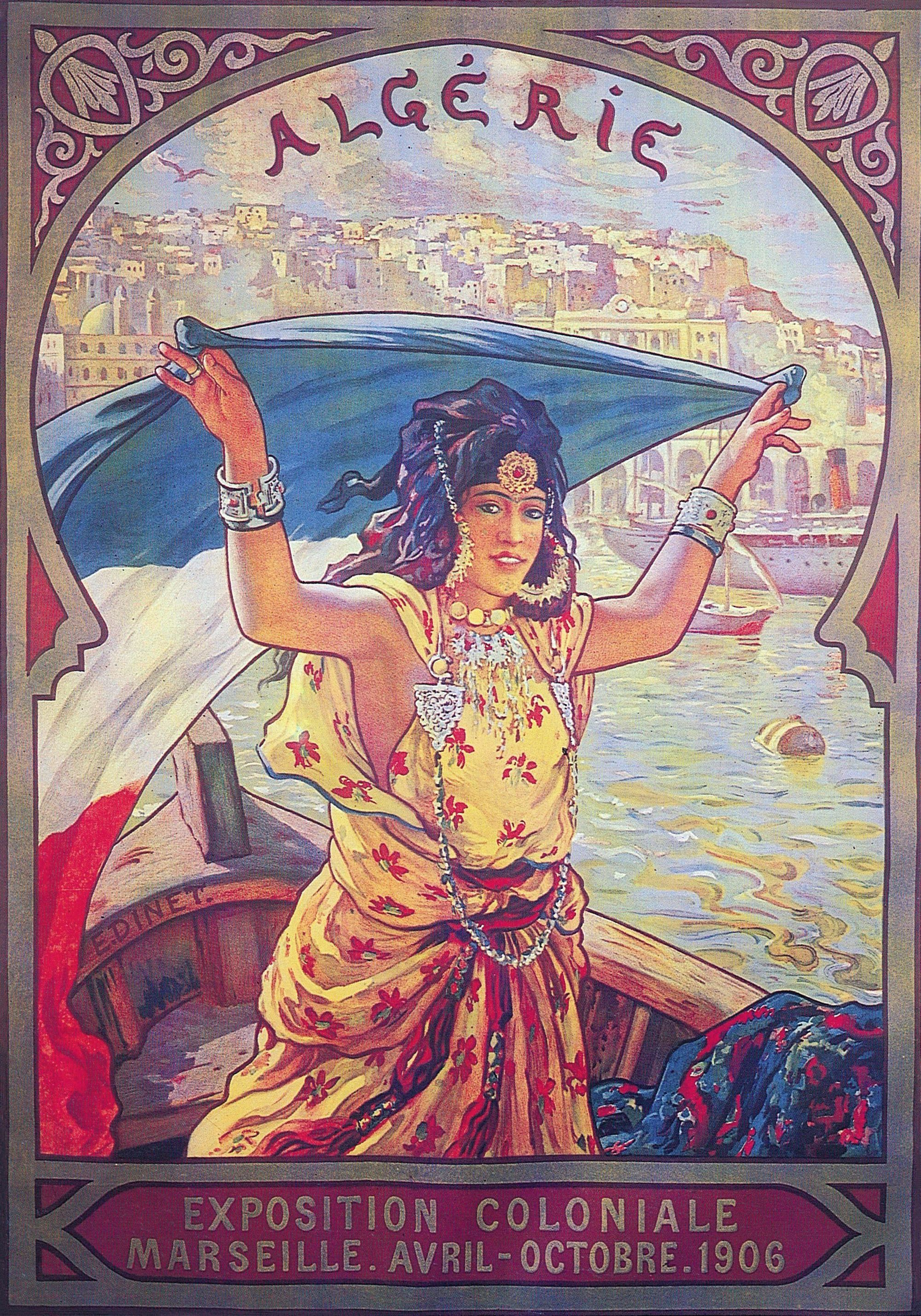 Étienne Dinet, affiche, 1906, 124 x 101 cm, Fondation Abderrahman Slaoui, Casablanca.