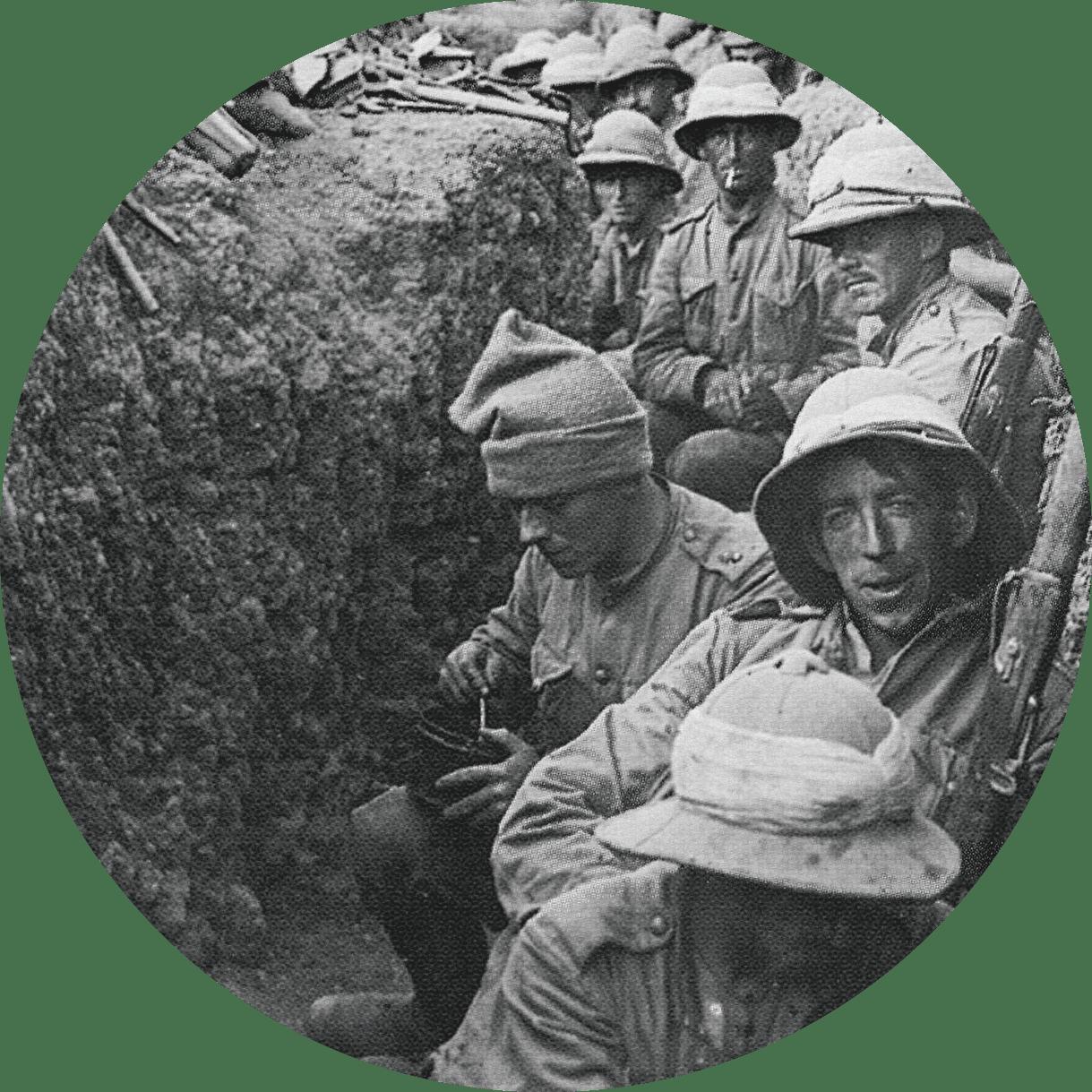 Soldats de la guerre de 1914-1918.