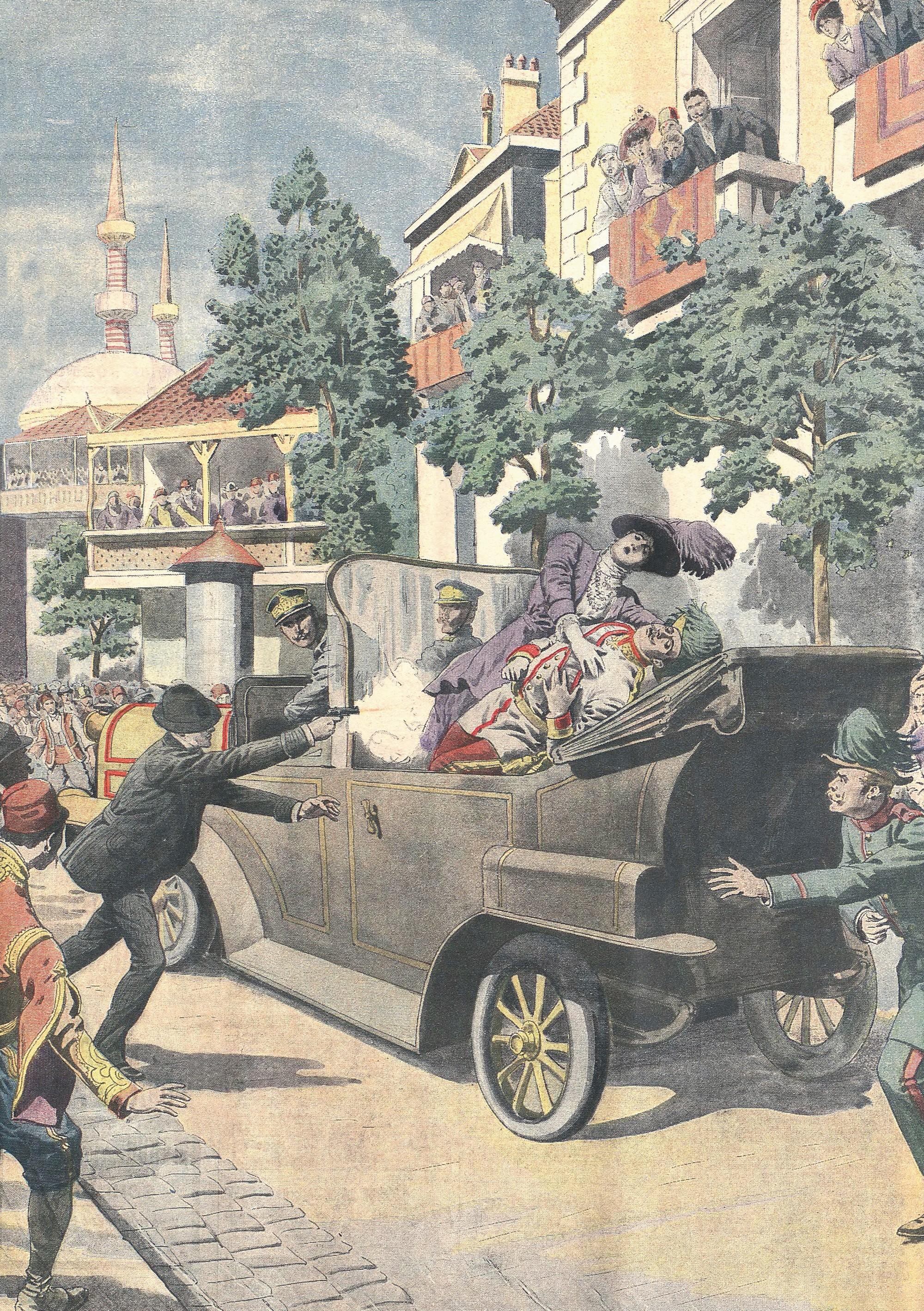 Illustration de la une du Petit Journal, 12 juillet 1914.