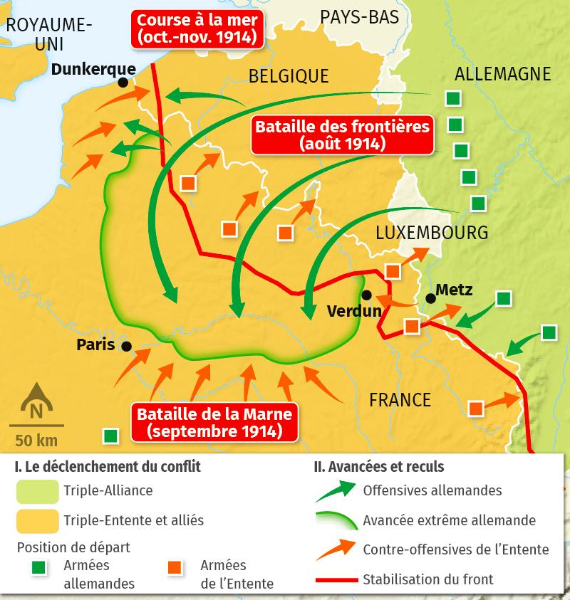 carte La guerre de mouvement