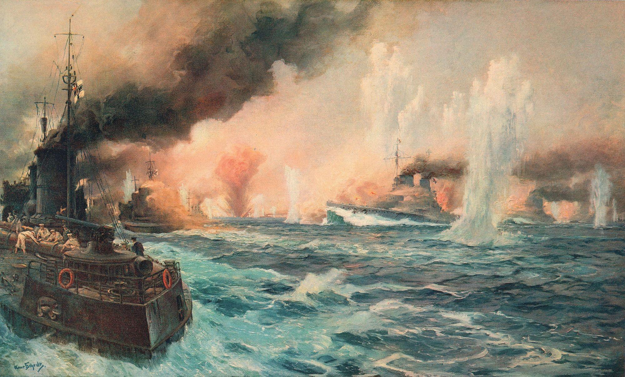 Hans Bohrdt, Bataille du Jutland