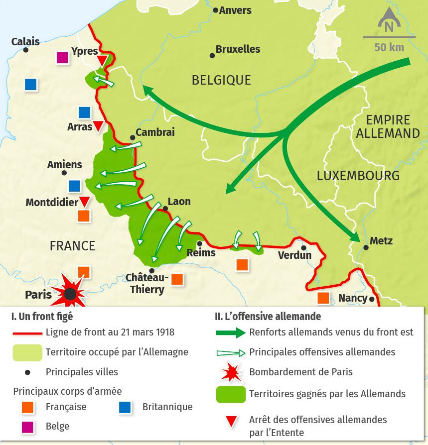 carte L'offensive allemande