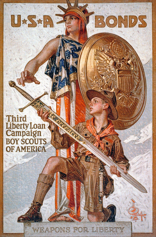 Affi che de propagande américaine, 1917.