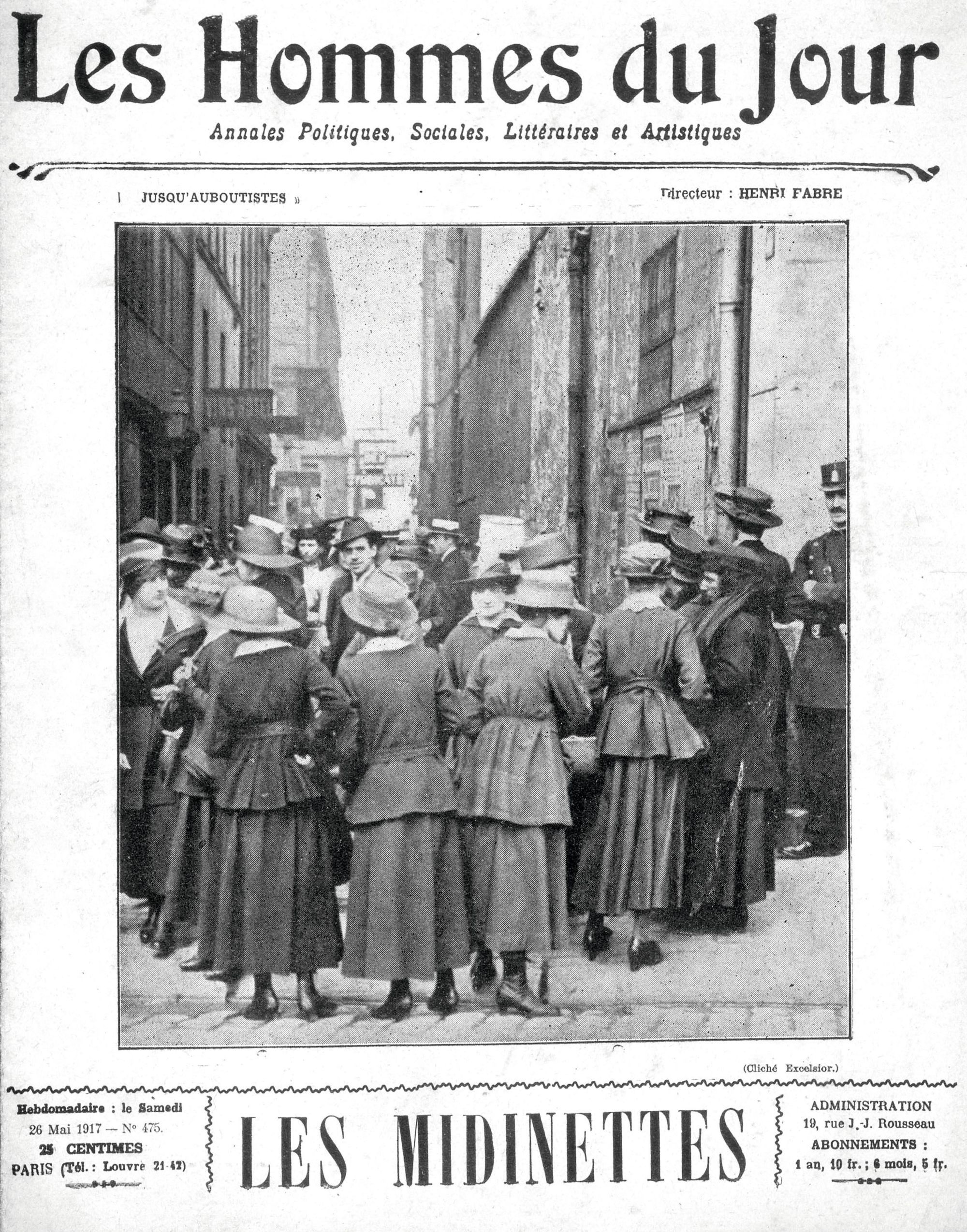 Une du journal Les Hommes du jour 1917