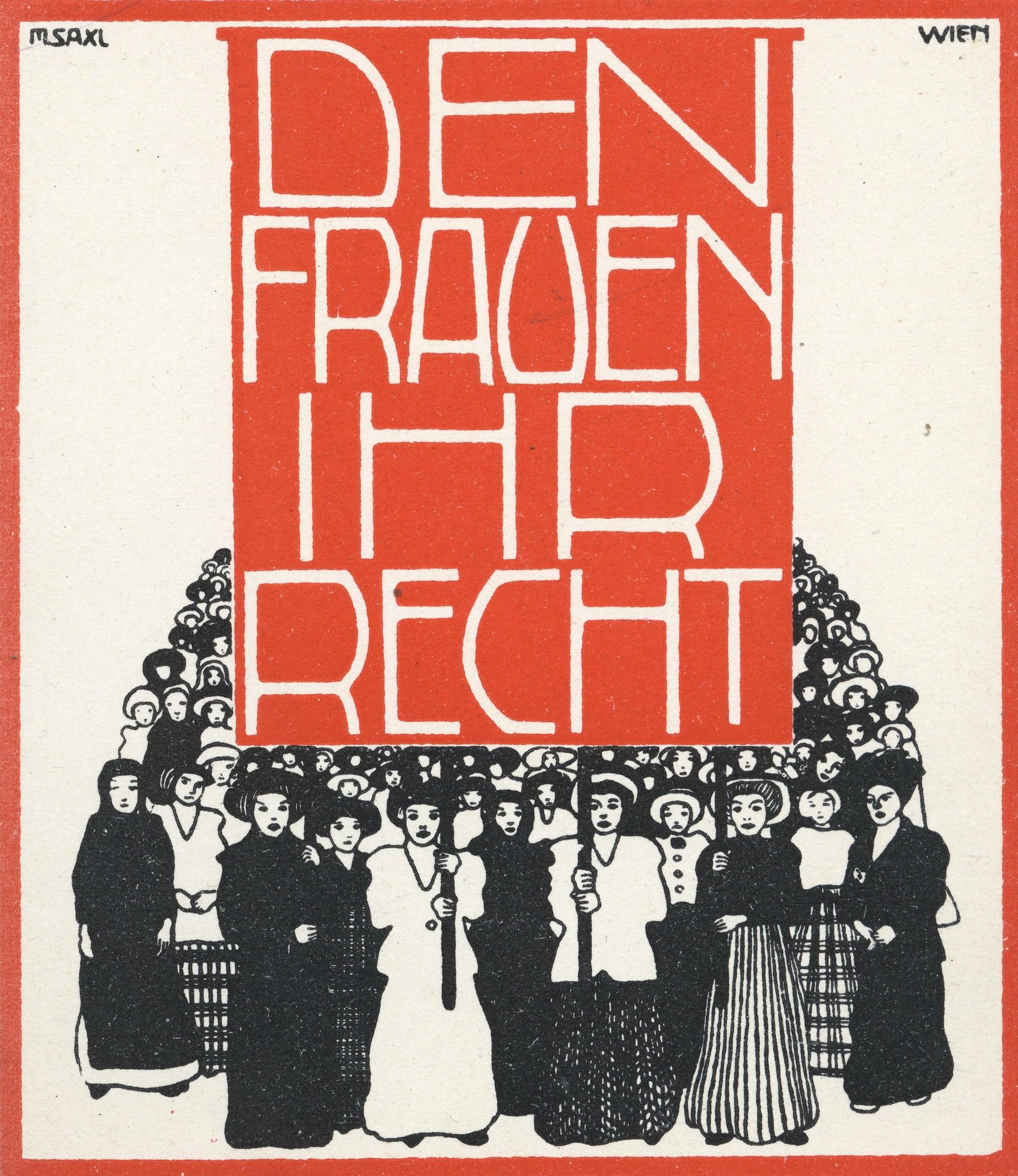 Affiche en faveur du vote des femmes, Autriche, 1914