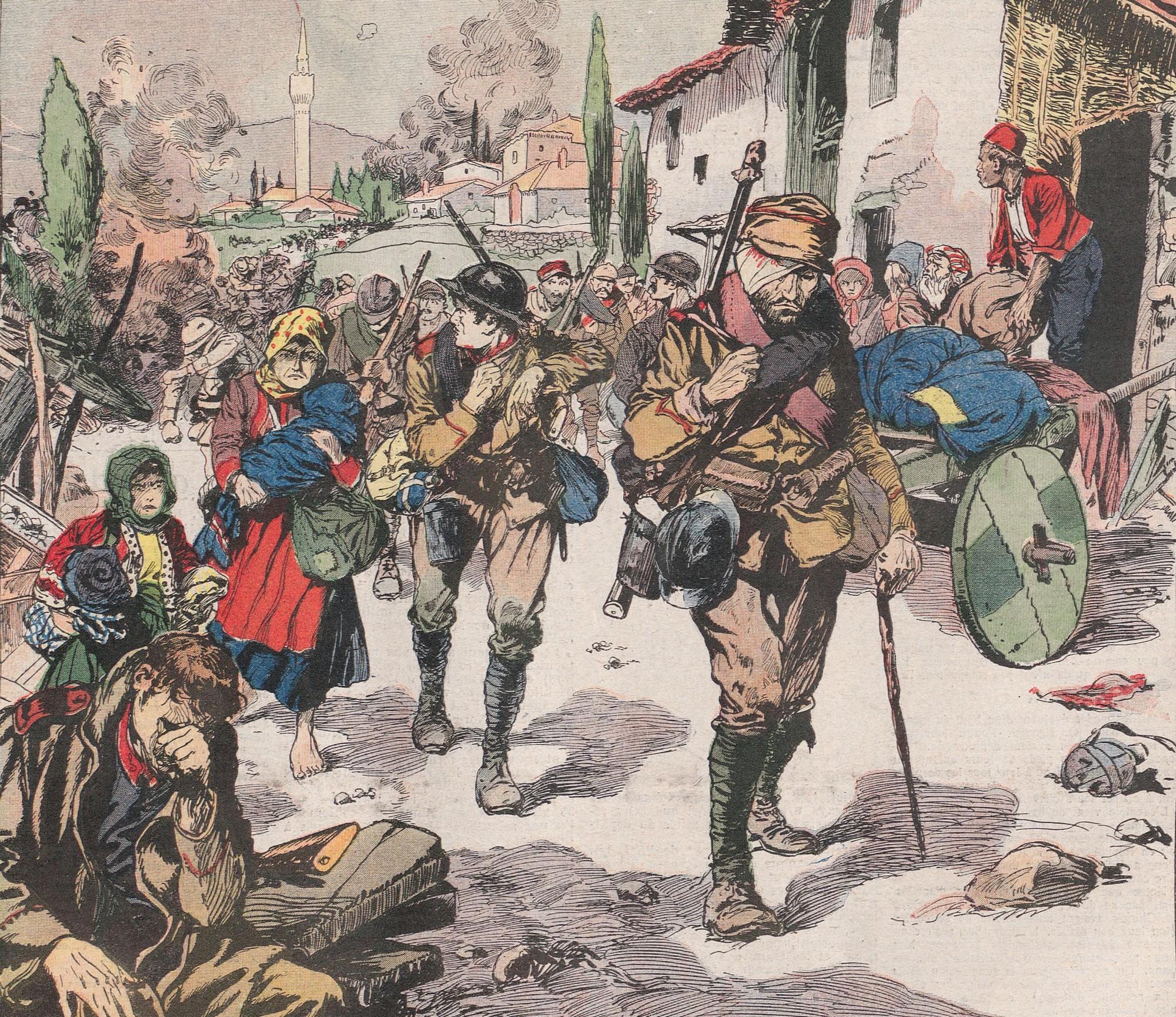 « Les Grecs d'Anatolie fuient face aux armées turques »