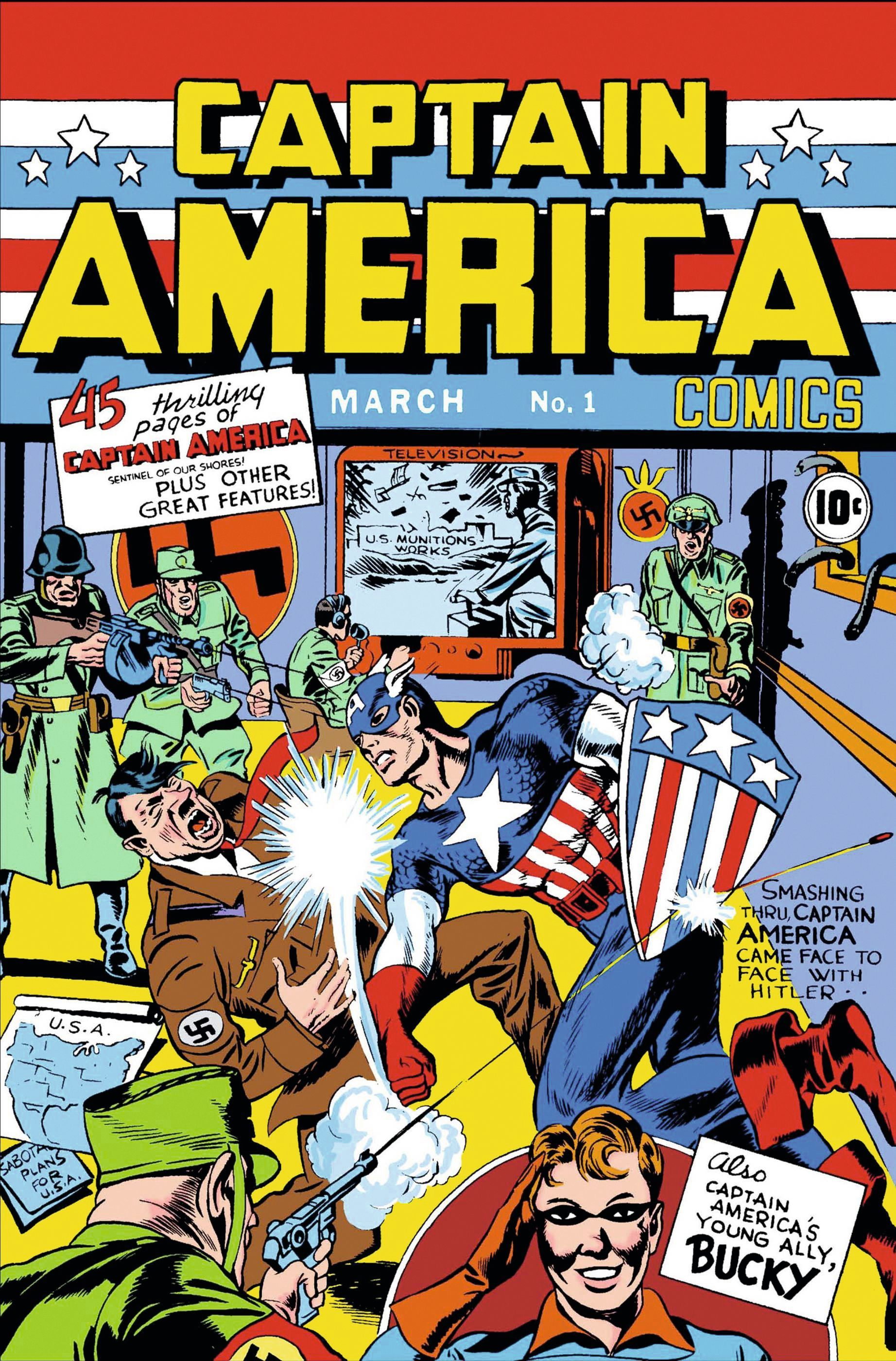 Cover of Captain America #1 Timely Comics, 1941