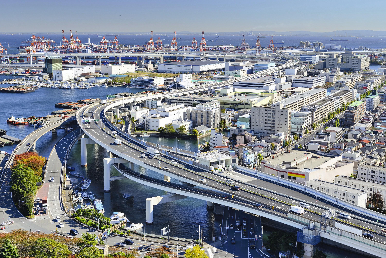 Le port de Yokohama, au Japon