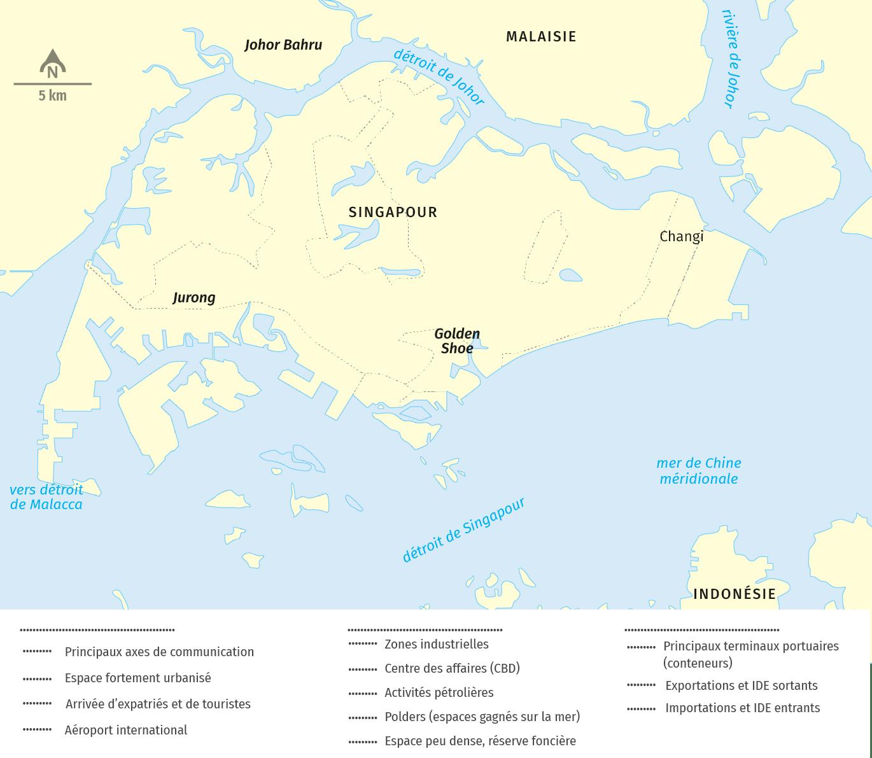 schema Singapour, une métropole mondiale