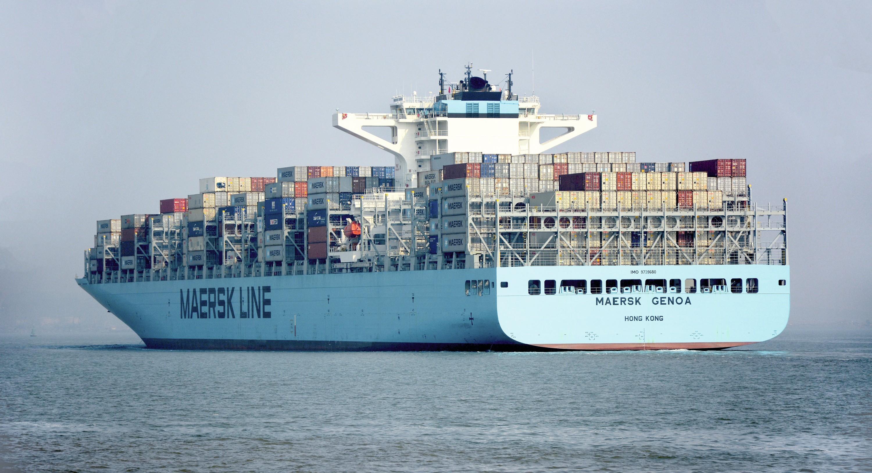 Le navire Mumbaï, de la compagnie Maersk