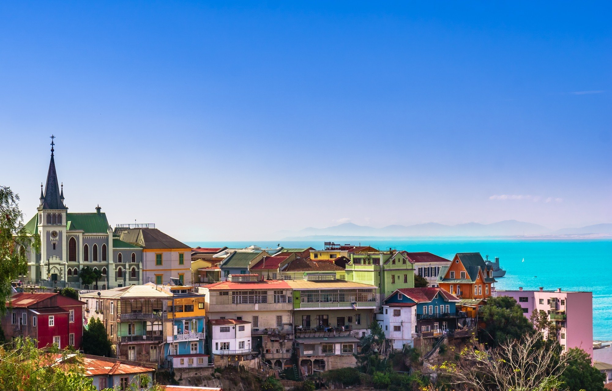 Foto del barrio de Cerro Alegre en Valparaíso.