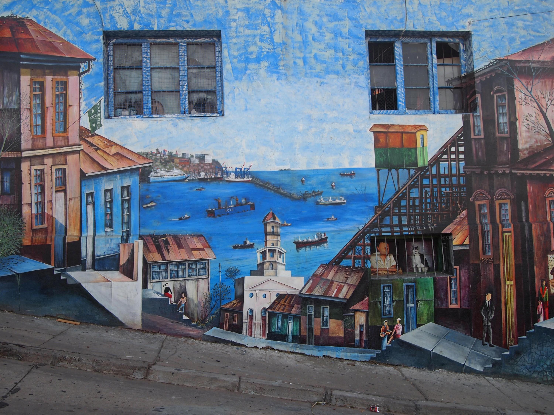 Calles de Valaparaíso, Puerto Viejo, 2010.