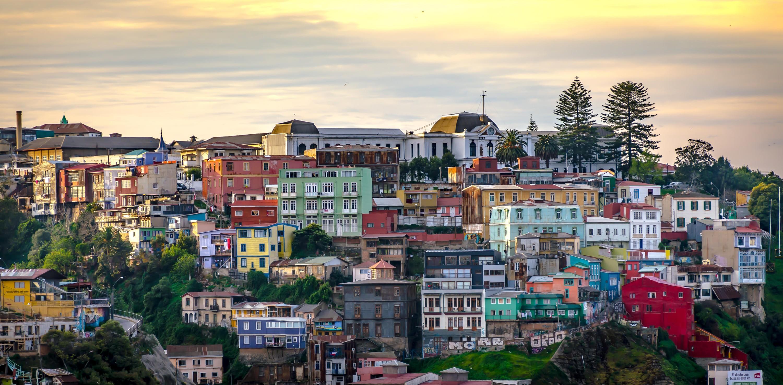 Casas coloradas de Valparaíso.