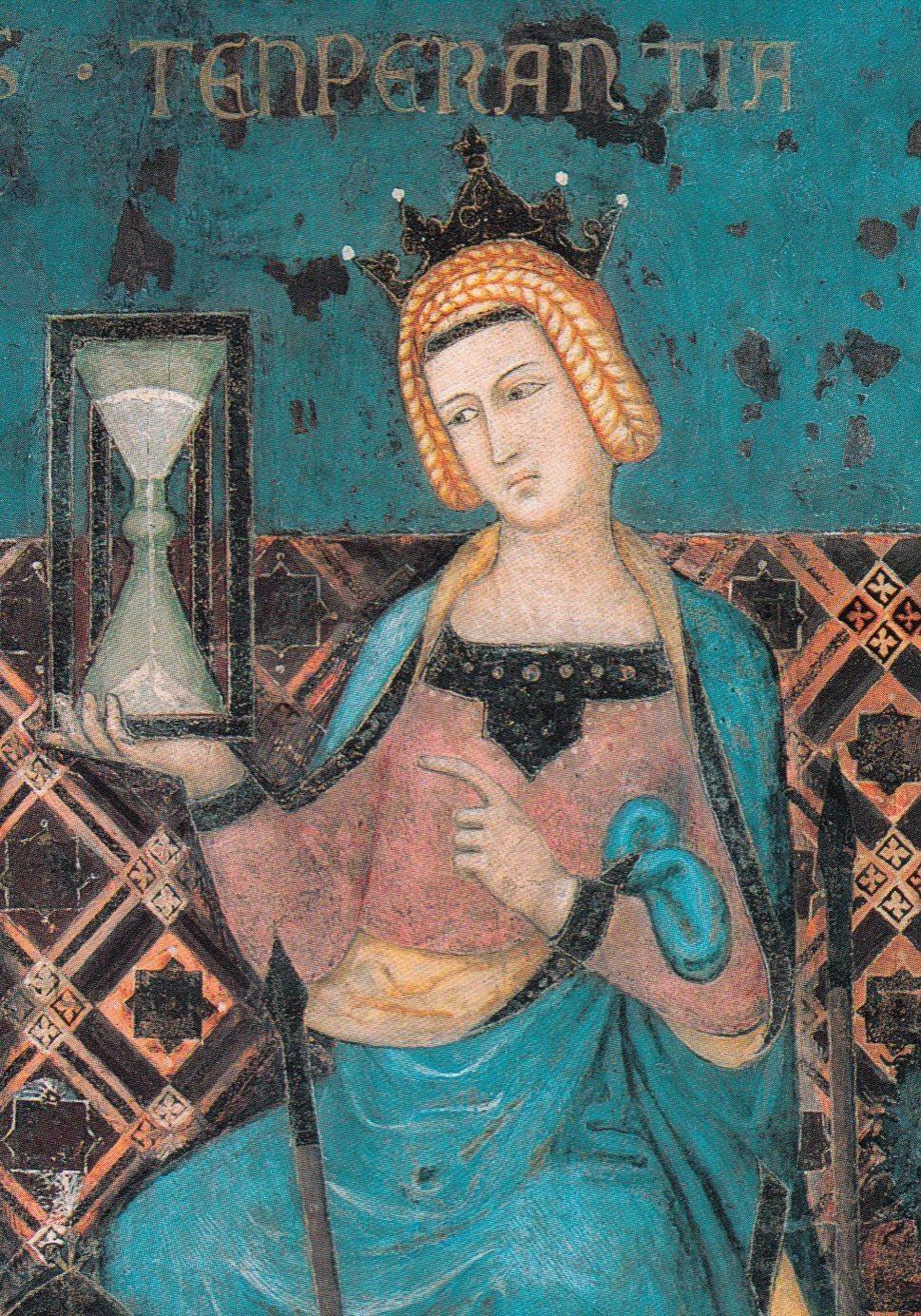 Ambrogio Lorenzetti, Fresque du bon et du mauvais gouvernement, allégorie de la Tempérance