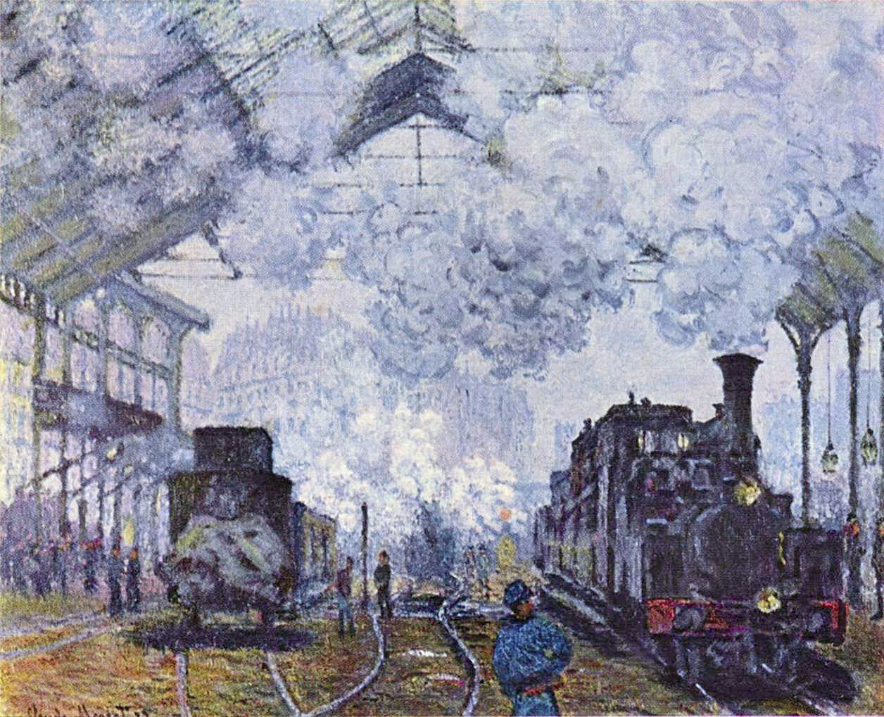 Claude Monet, La Gare Saint- Lazare, 1877, huile sur toile.