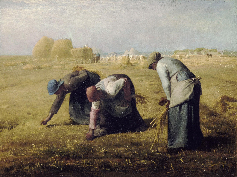 Jean-François Millet, Les Glaneuses, 1857, huile sur toile.