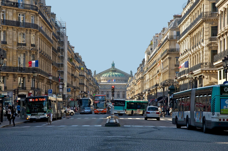 L'avenue de l'Opéra de nos jours.