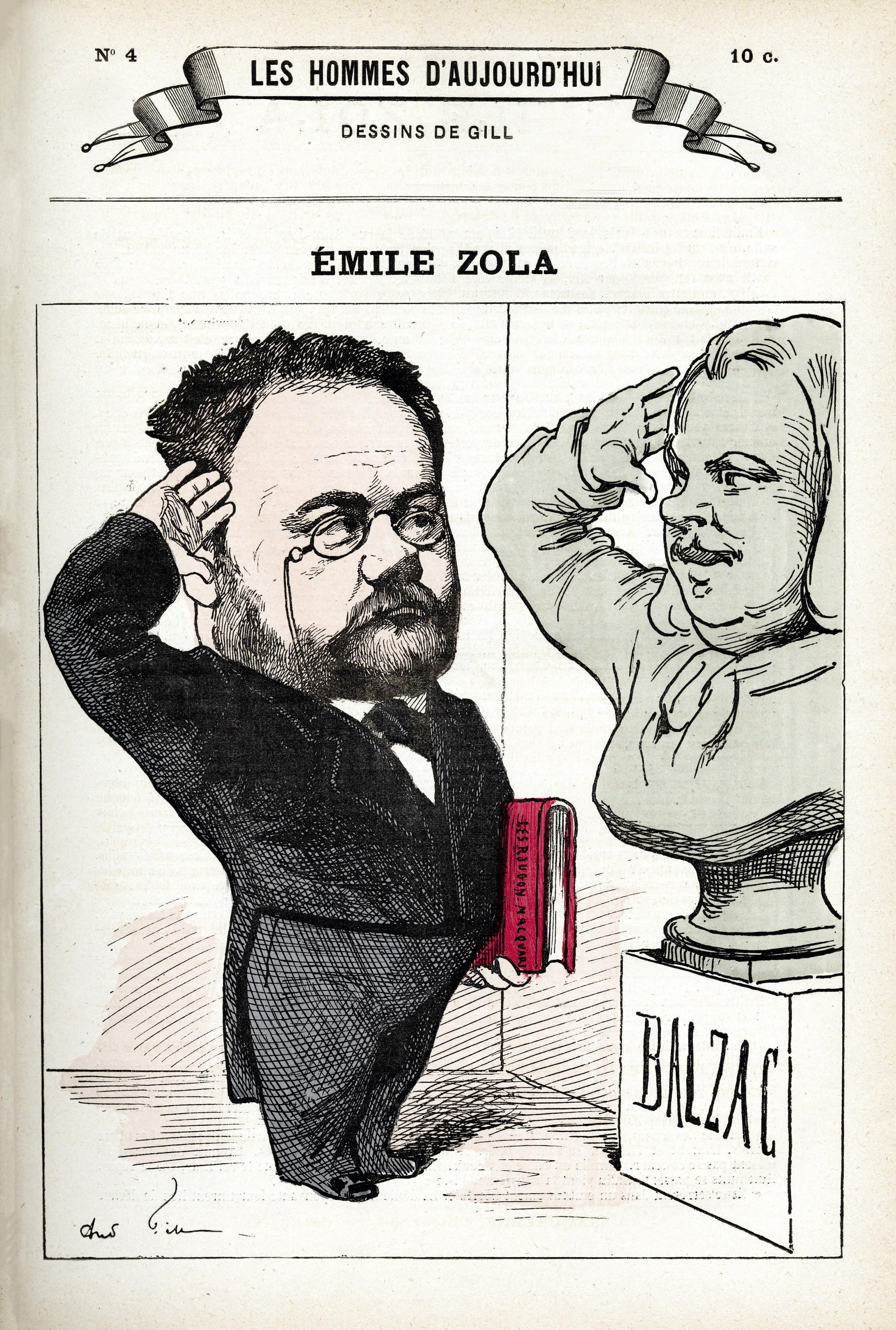 André Gill, Les Hommes d'aujourd'hui : Émile Zola