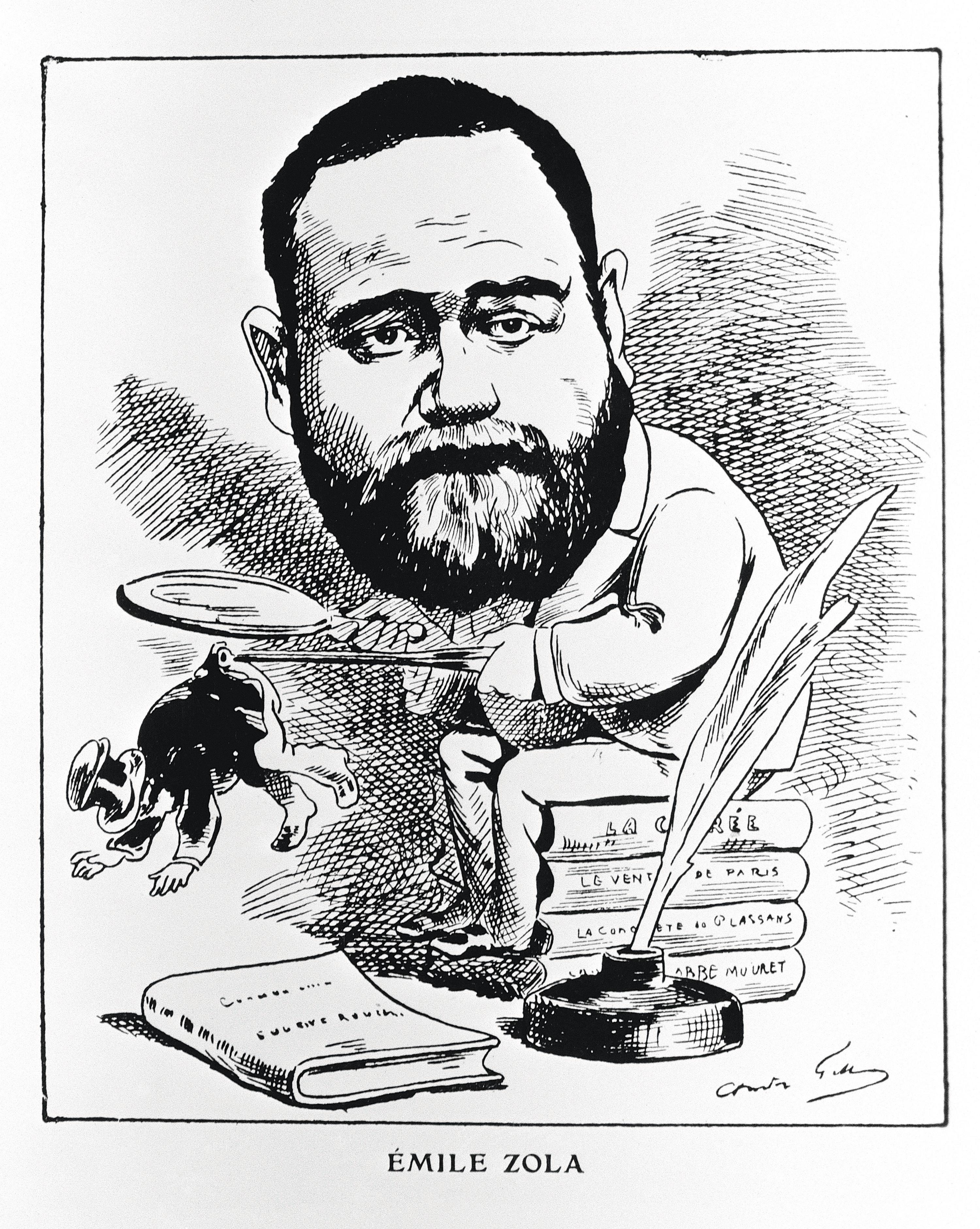 André Gill, Émile Zola observant ses semblables à la loupe