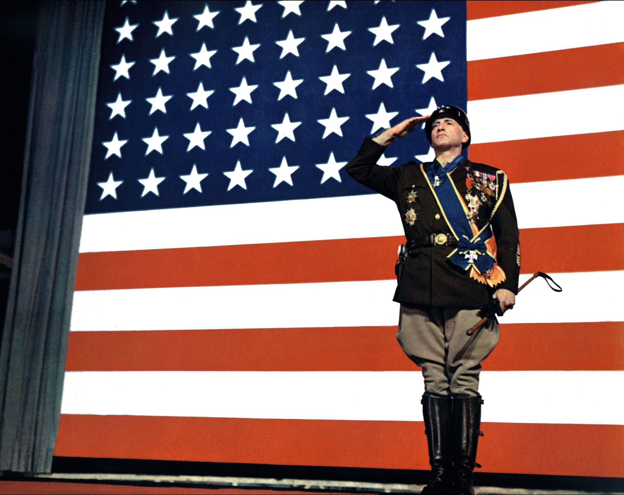 Still from the film Patton, by Franklin J. Schaffner, 1970