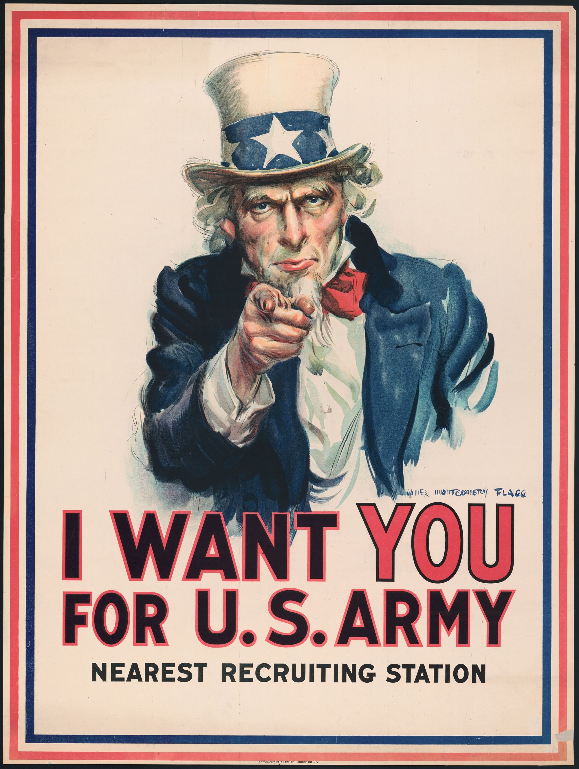 Uncle Sam, James Montgomery Flagg, 1917