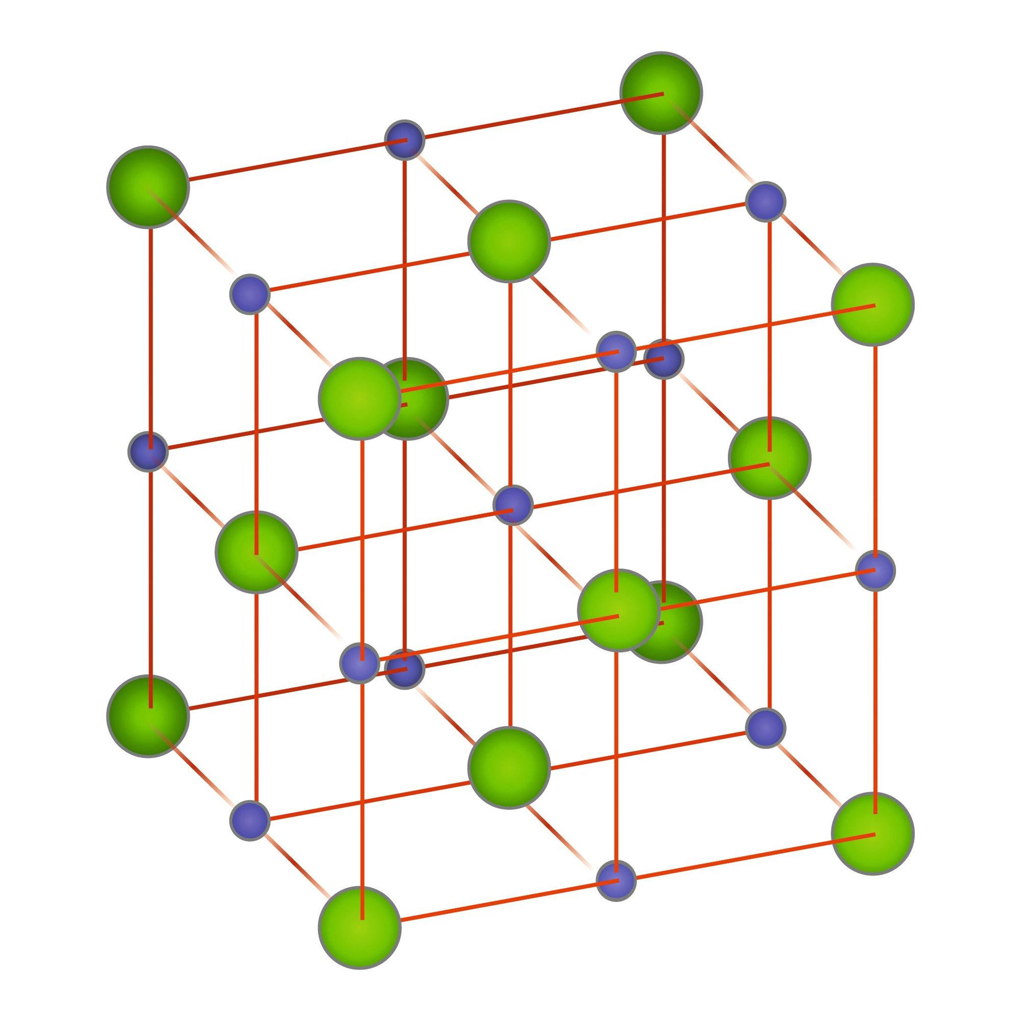 Le cristal de chlorure de sodium