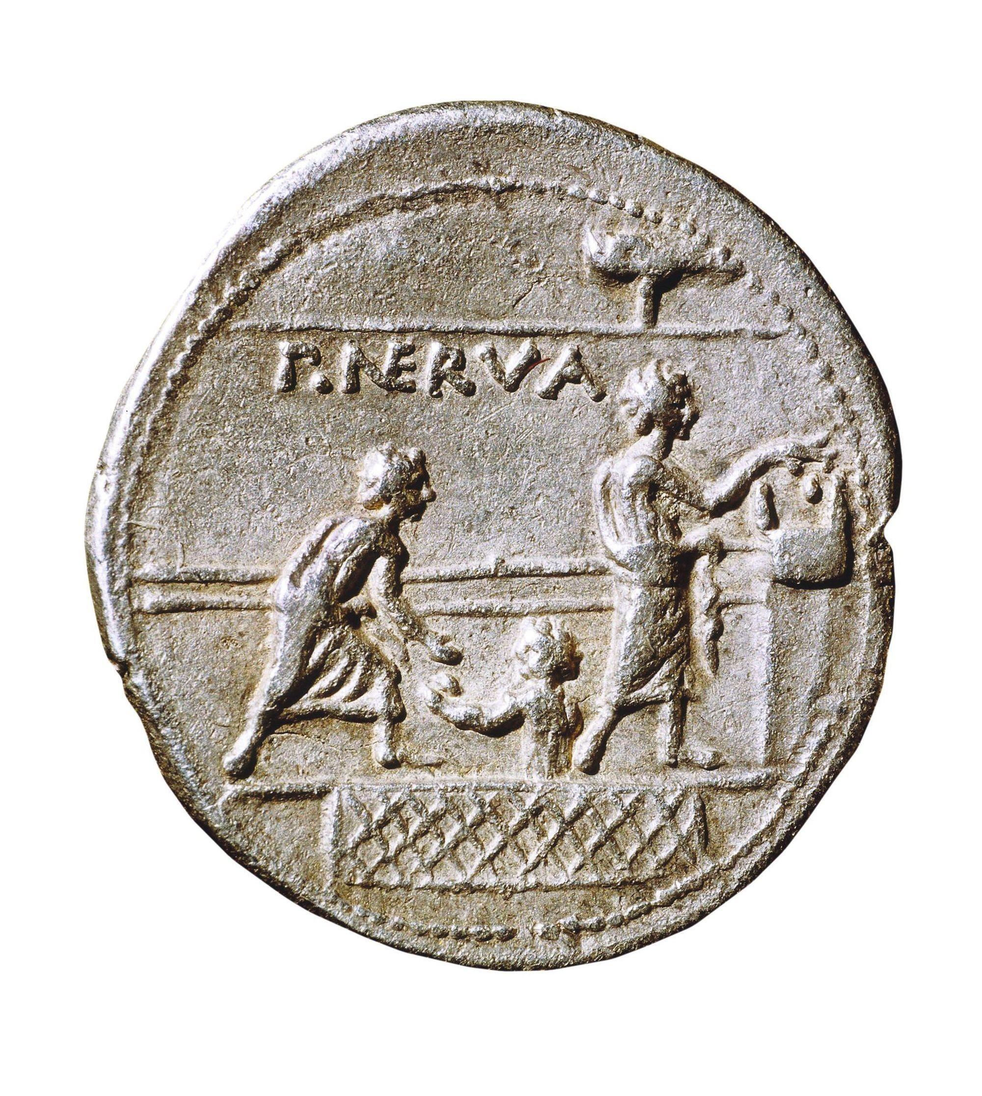 Revers d'une monnaie d'argent, 110 av. J.-C