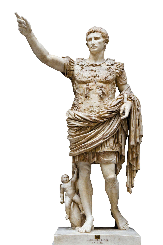 Statue d'Auguste dite « Prima Porta », trouvée dans une villa de Livie