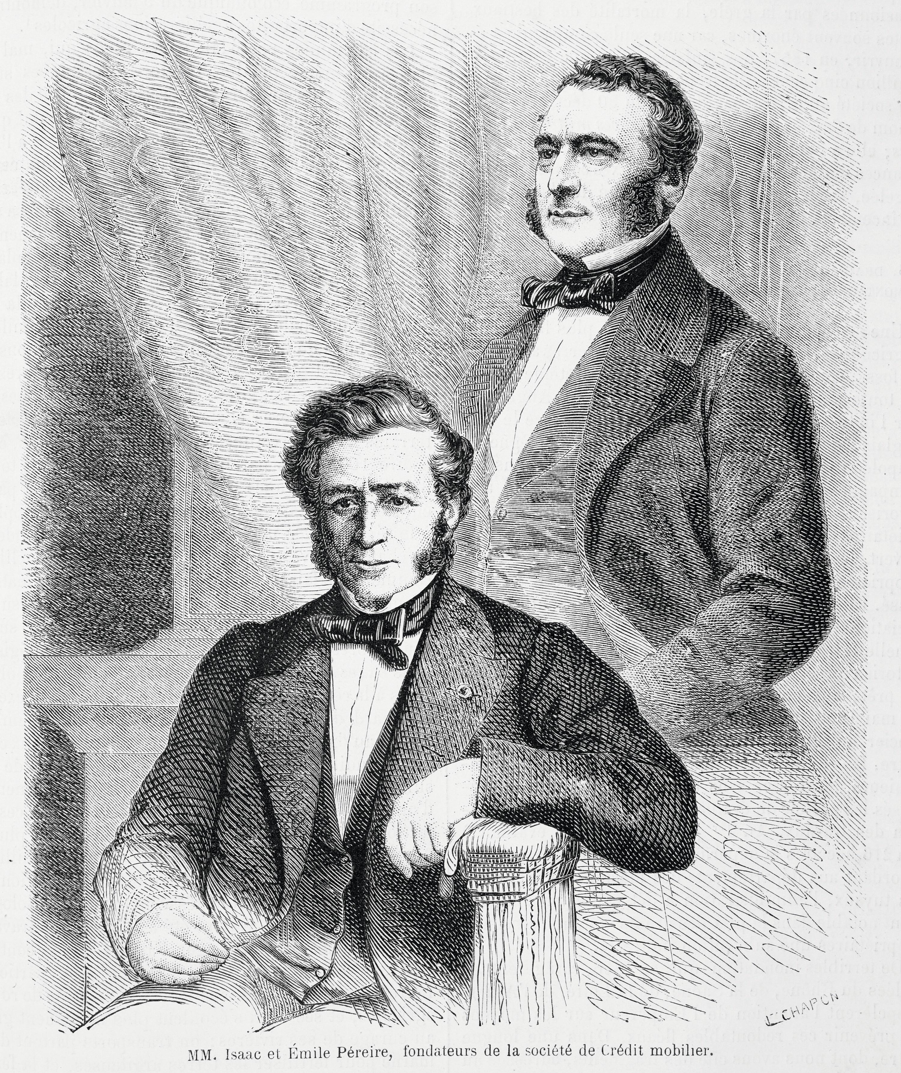 Émile (1800-1875) et Isaac (1806-1880) Pereire