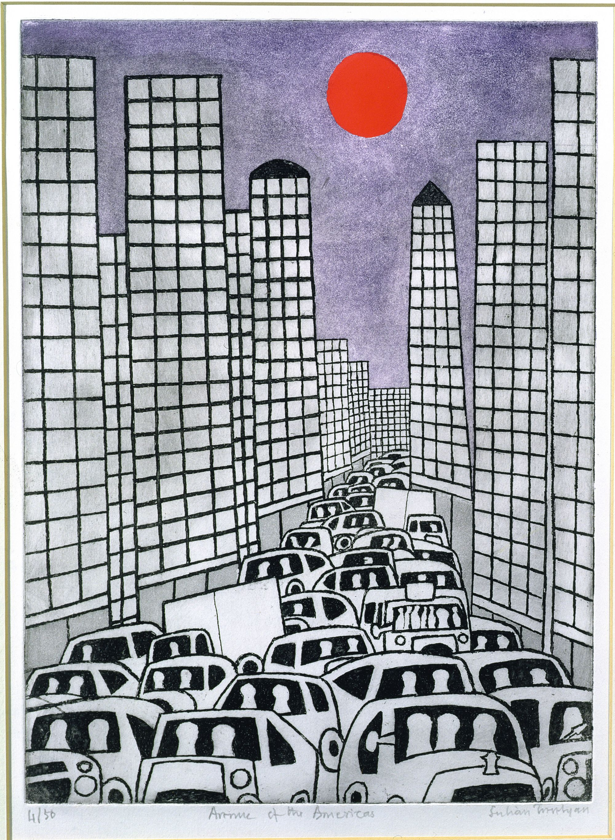 Avenue of the Americas, Julian Trevelyan, 1982.
