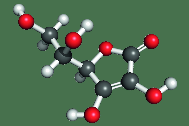Modèle moléculaire de l'acide ascorbique