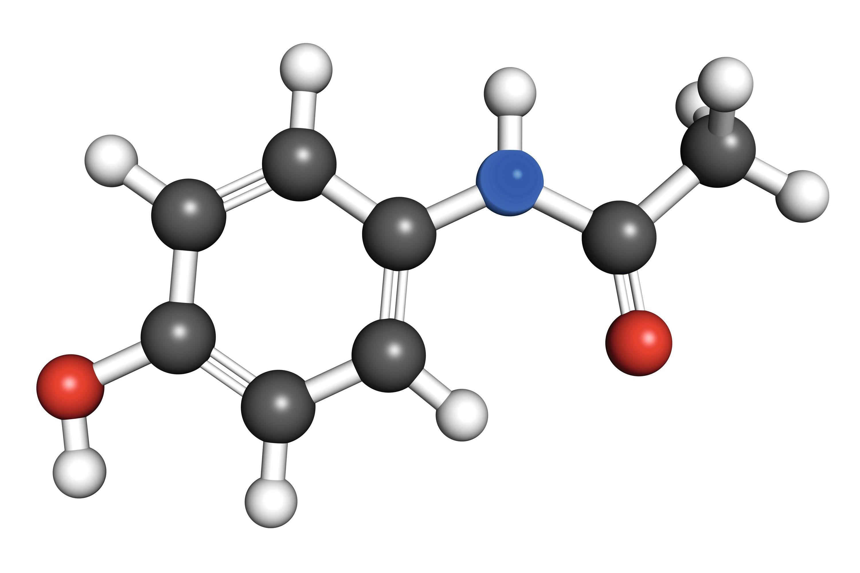 Molécule de paracetamol