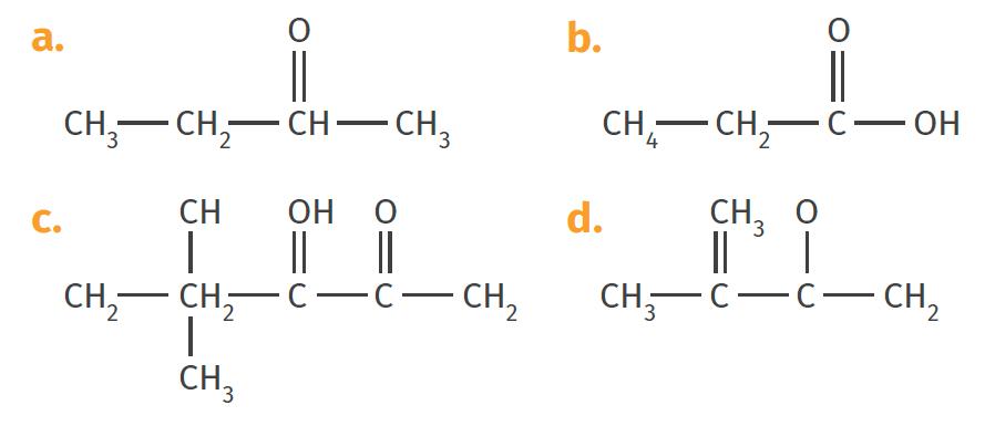 molécules formules semi-développées