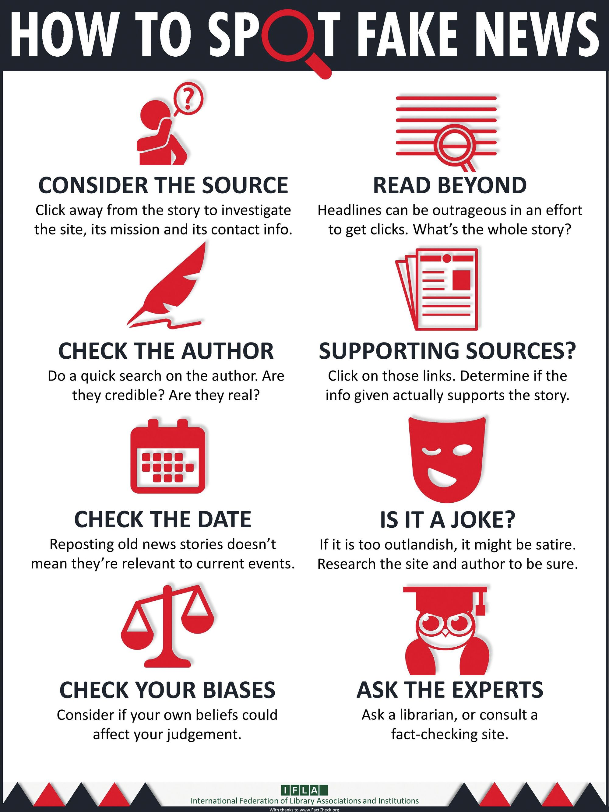 """How to Spot Fake News"", IFLA.org, 2017."