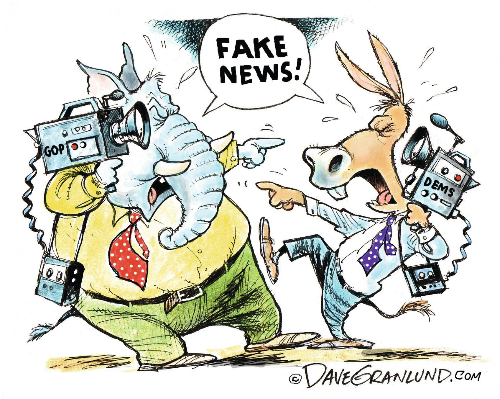 Fake News!, Dave Granlund, 2017.